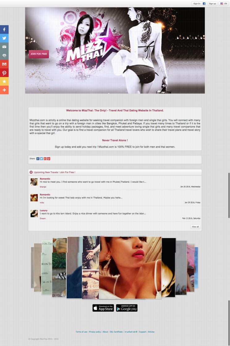 Thai Dating at Mizzthai   Thai Girls Travel Companion Site